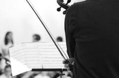 Mucis classiques d'un concert Images libres de droits