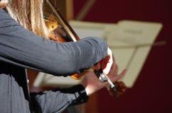 Mucis classiques d'un concert photographie stock