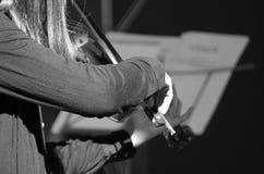 Mucis classiques d'un concert Images stock