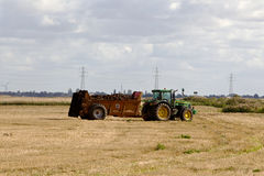 Muck spreading Royalty Free Stock Photo