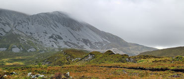 Muckish mountain during a heavy rain Stock Images