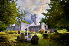 Muckross Abbey in Ireland. Muckross Abbey is one of the major ecclesiastical sites found in the Killarney National Park, County Kerry, Ireland. It was founded in Royalty Free Stock Image