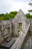 Muckross Abbey in Ireland. Muckross Abbey is one of the major ecclesiastical sites found in the Killarney National Park, County Kerry, Ireland. It was founded in Stock Photo