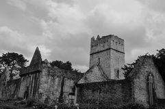 Muckross Abbey. A prominent feature in Killarney National Park Stock Photos