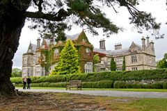 Muckross House, Killarney, Ireland. Muckross House, County Kerry, Ireland - is a Tudor style mansion built in 1843 located on the small Muckross Peninsula Stock Photos
