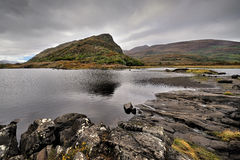 Muckross Lake, Killarney, Ireland with mountains in background, Ireland Stock Photos