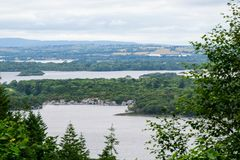 Muckross Lake and Lough Leane in Ireland`s Killarney National Park in County Kerry stock images