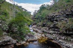 Mucugezinho flod i Chapada Diamantina - Bahia, Brasilien Royaltyfria Bilder