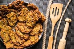 Mucver/calabacín frito/comida turca Imágenes de archivo libres de regalías