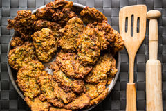 Mucver / Fried zucchini / Turkish Food Stock Photography