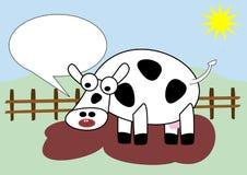 Muczenie krowa Fotografia Stock