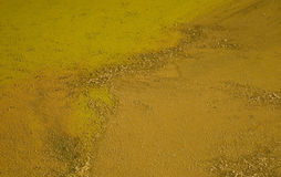 Mud. Bright yellow and orange mud Royalty Free Stock Image