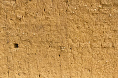 Mud Adobe Wall Texture. Wall for background or texture of mud and straw bricks (adobe) baked in the sun Royalty Free Stock Photography