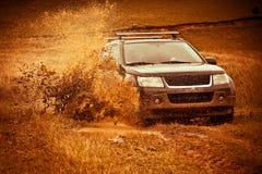 mud av vägfärgstänk Royaltyfri Fotografi