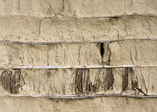 Mud, bamboo and straw wall texture Royalty Free Stock Photography