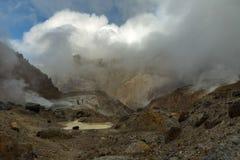 Mud bath in crater of Mutnovsky volcano. Stock Photos