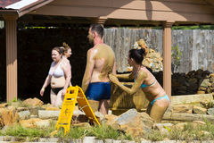 Mud baths to improve the condition of the skin and strengthen the immune system Stock Image