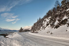 Mud Bay road in winter Royalty Free Stock Image