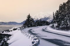 Mud Bay Road in Winter Royalty Free Stock Photo