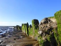 Mud beach at low tide. The mud beach at low tide at Burnham-on-Sea in Somerset, England royalty free stock image