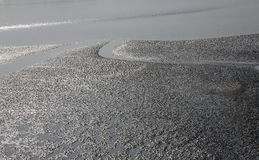 Mud beds on the river Malta during low tide the water in the Canning Town, India. Mud beds on the river Malta during low tide the water in the Canning Town, West Stock Image