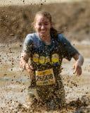Mud being sprayed Stock Image