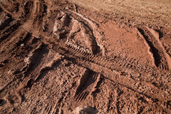 Mud bike tracks texture Royalty Free Stock Images