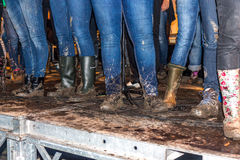 Mud on boots Royalty Free Stock Images