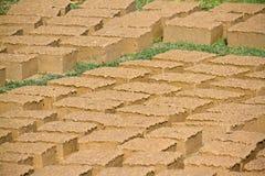 Mud brick drying in Nepal Stock Photos