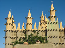 Mud brick mosque, Saba. Stock Photography