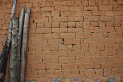 Mud brick wall found in China Stock Photos