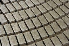 Mud bricks pisé Stock Photo