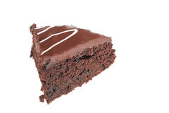 Mud cake. Chocolate mud cake stock photo