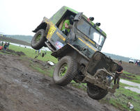 Mud challenge rally. Peoples participate in Mud challenge rally in Bhopal, Madhyapradesh India Stock Photos