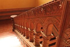 Mud Color Engraved Stair case royalty free stock image