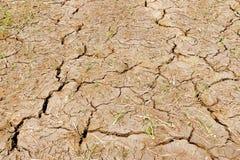 Mud cracks. Dryness texture background,Chiangrai ,Thailand Stock Photography