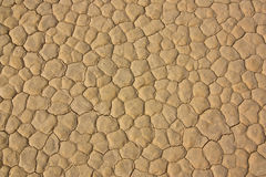 Mud cracks of Racetrack Playa Royalty Free Stock Photography
