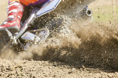 Mud debris from a motocross race Stock Photography
