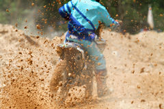 Mud debris from a motocross race. In track Royalty Free Stock Photography