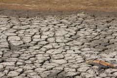 Mud dried due to drought Royalty Free Stock Photos