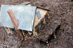mud för 3 hus Royaltyfri Fotografi