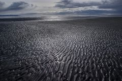 Mud flat patterns at low tide Royalty Free Stock Photo