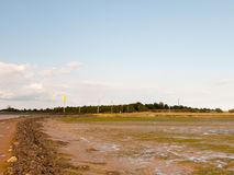 Mud flat texture of earth landscape Maldon black water road lead stock photos