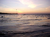 Mud Flats at Dusk. Tide out at dusk in these mud flats Royalty Free Stock Photography