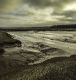 Mud Flats. Irving nature park Saint John New Brunswick Sunset Royalty Free Stock Photography