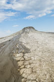Mud flowing from crater 2 Royalty Free Stock Photo