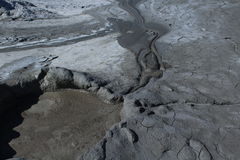 Mud flowing. From a mud volcano Royalty Free Stock Images