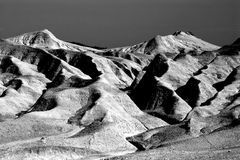 Mud hill landscape BW Stock Photography
