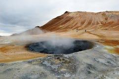 Mud Hole In Namarkard, Iceland Stock Photos