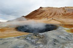 Mud hole in Namarkard, Iceland Stock Photos